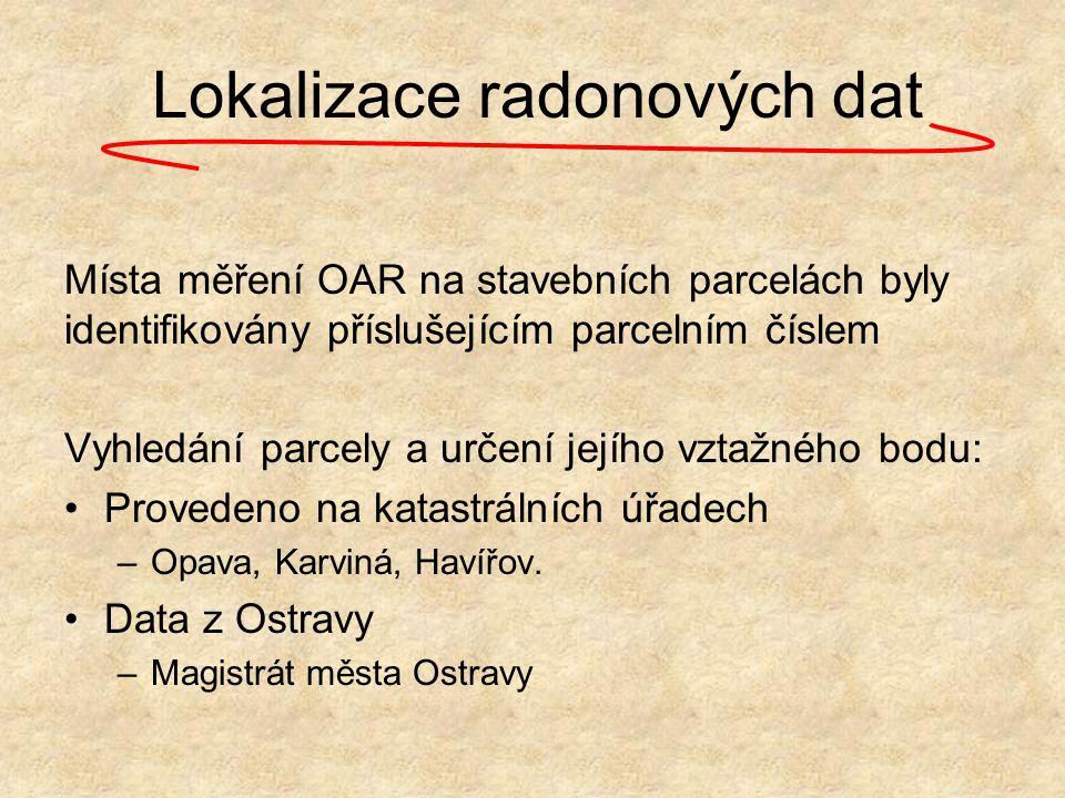 Lokalizace radonových dat