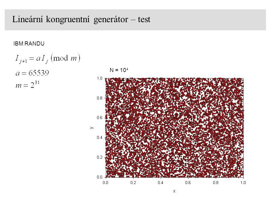 Lineární kongruentní generátor – test