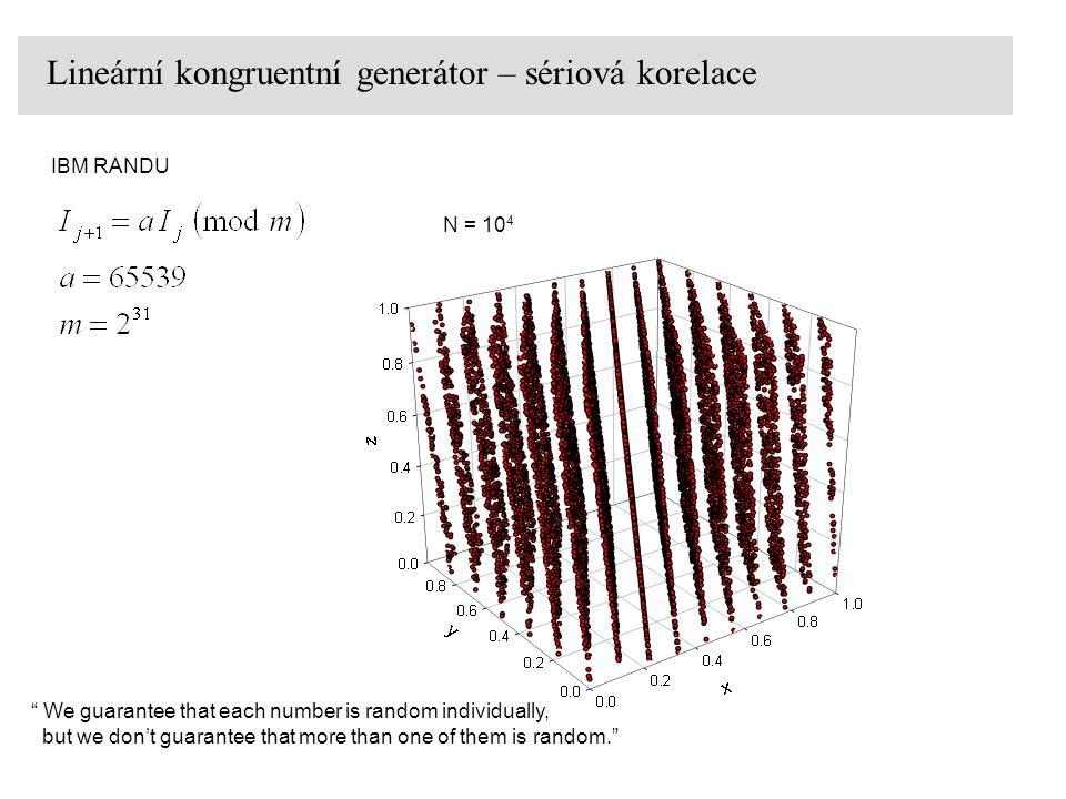 Lineární kongruentní generátor – sériová korelace