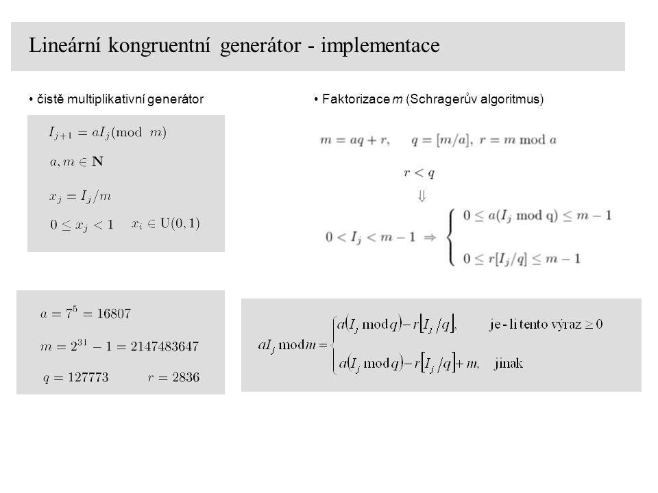 Lineární kongruentní generátor - implementace