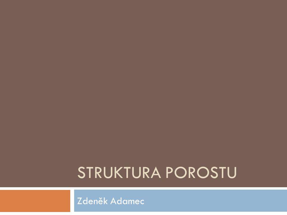 Struktura porostu Zdeněk Adamec