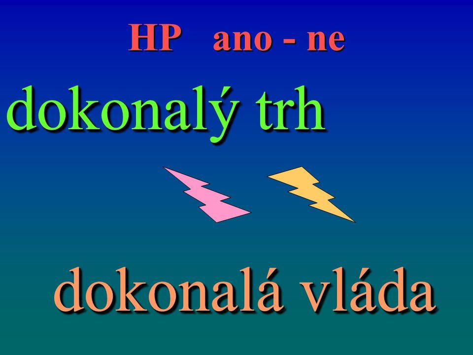HP ano - ne dokonalý trh dokonalá vláda