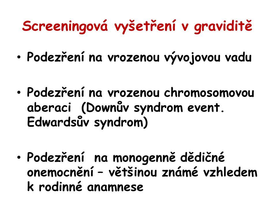 Screeningová vyšetření v graviditě