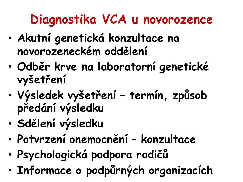 Diagnostika VCA u novorozence