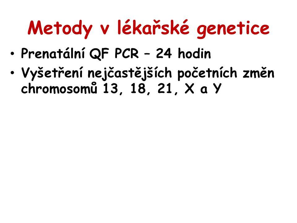 Metody v lékařské genetice