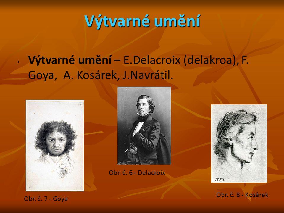 Výtvarné umění Výtvarné umění – E.Delacroix (delakroa), F. Goya, A. Kosárek, J.Navrátil. Obr. č. 6 - Delacroix.
