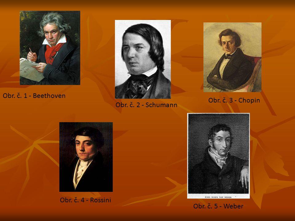 Obr. č. 1 - Beethoven Obr. č. 3 - Chopin Obr. č. 2 - Schumann Obr. č. 4 - Rossini Obr. č. 5 - Weber