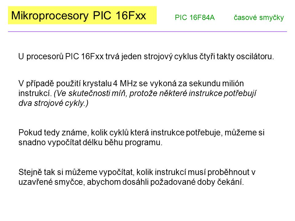 Mikroprocesory PIC 16Fxx