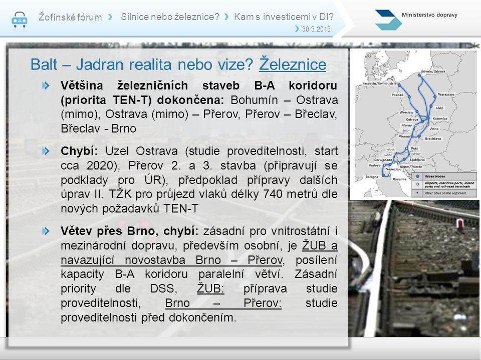 Balt – Jadran realita nebo vize Železnice