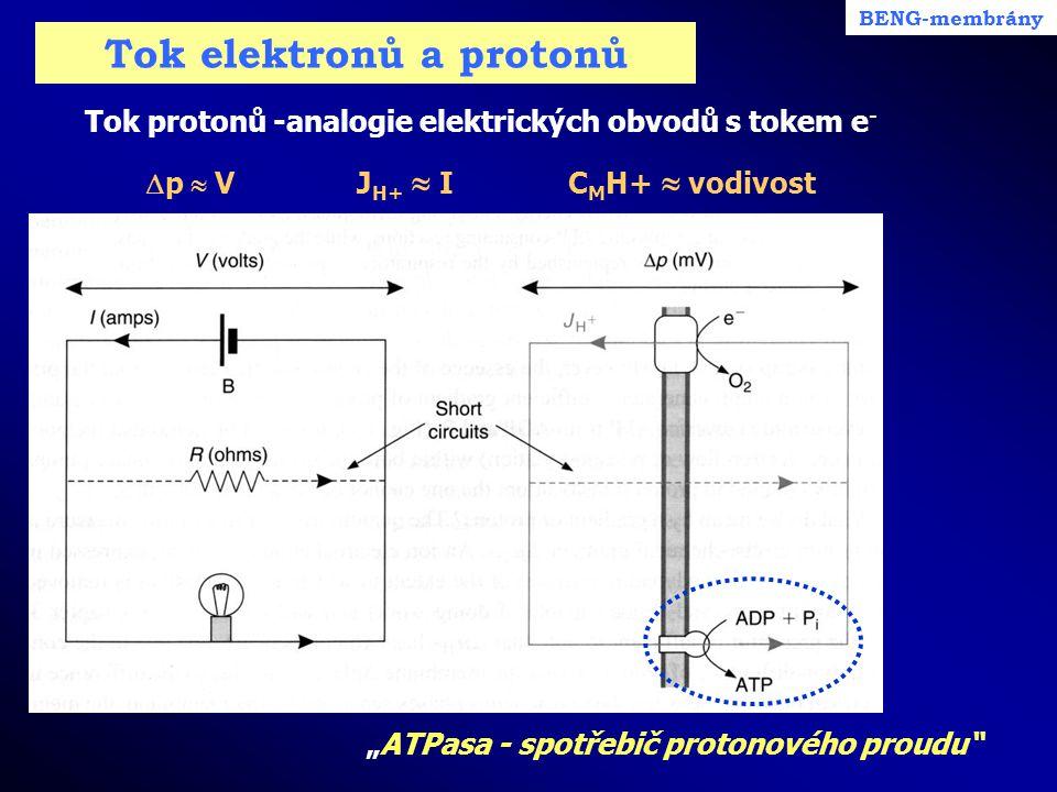 Tok elektronů a protonů