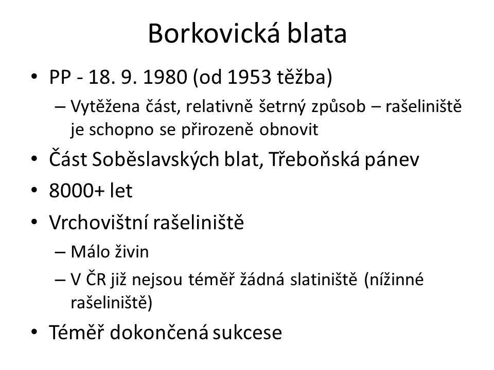 Borkovická blata PP - 18. 9. 1980 (od 1953 těžba)