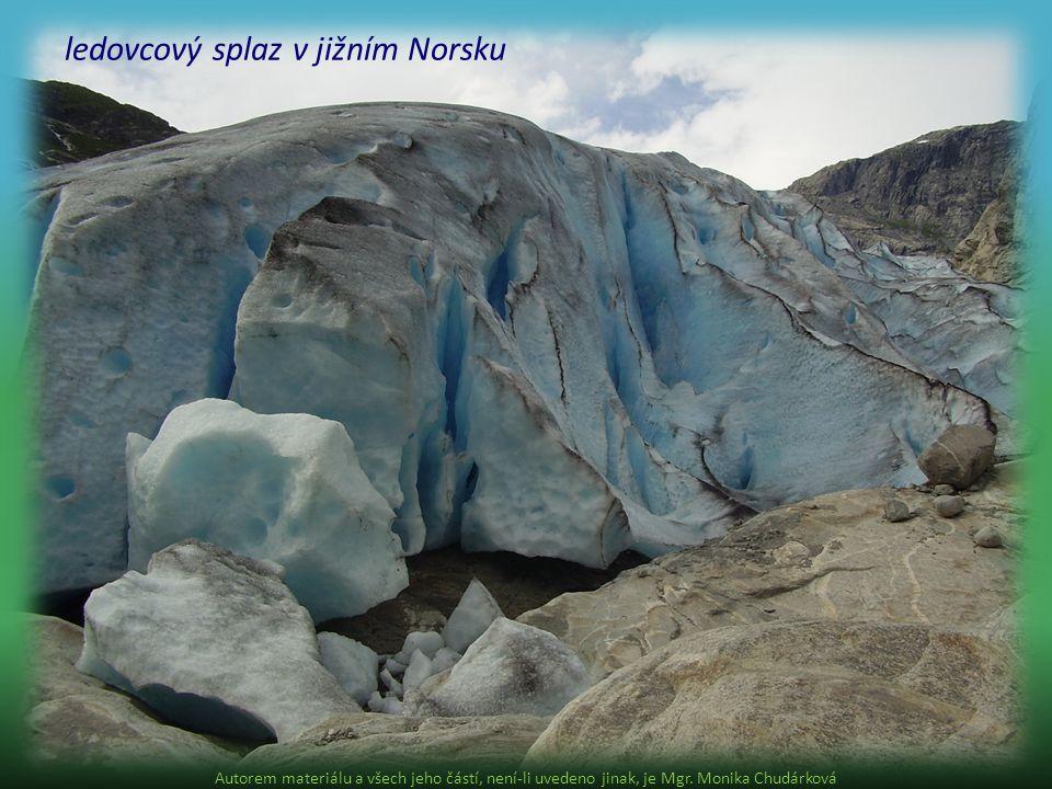 ledovcový splaz v jižním Norsku