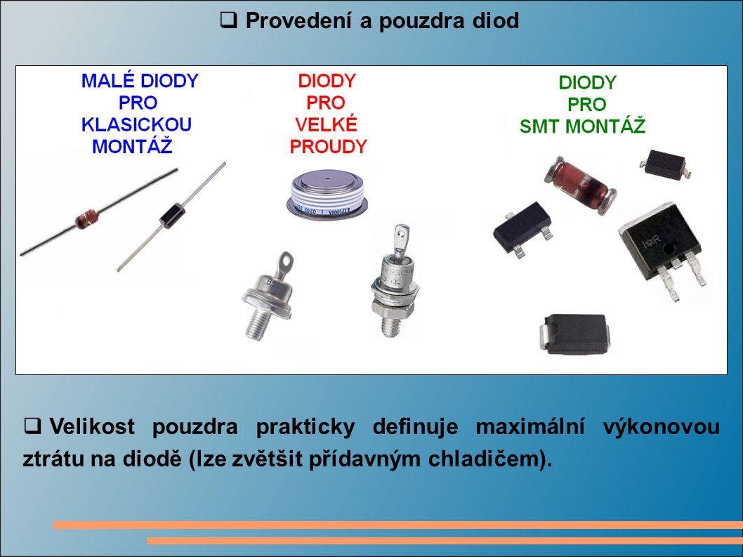 Provedení a pouzdra diod