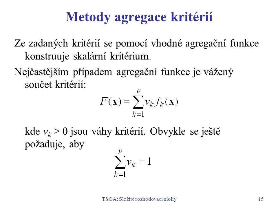 Metody agregace kritérií