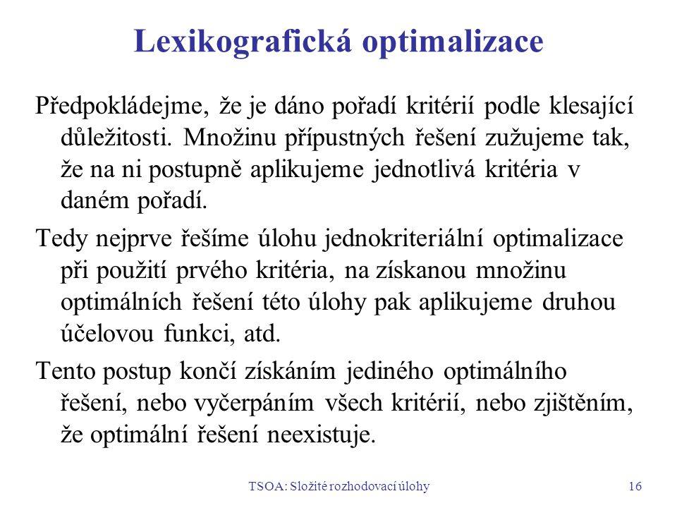 Lexikografická optimalizace