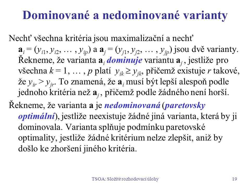 Dominované a nedominované varianty