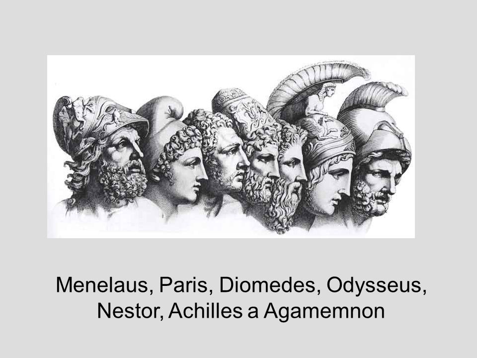 Menelaus, Paris, Diomedes, Odysseus,