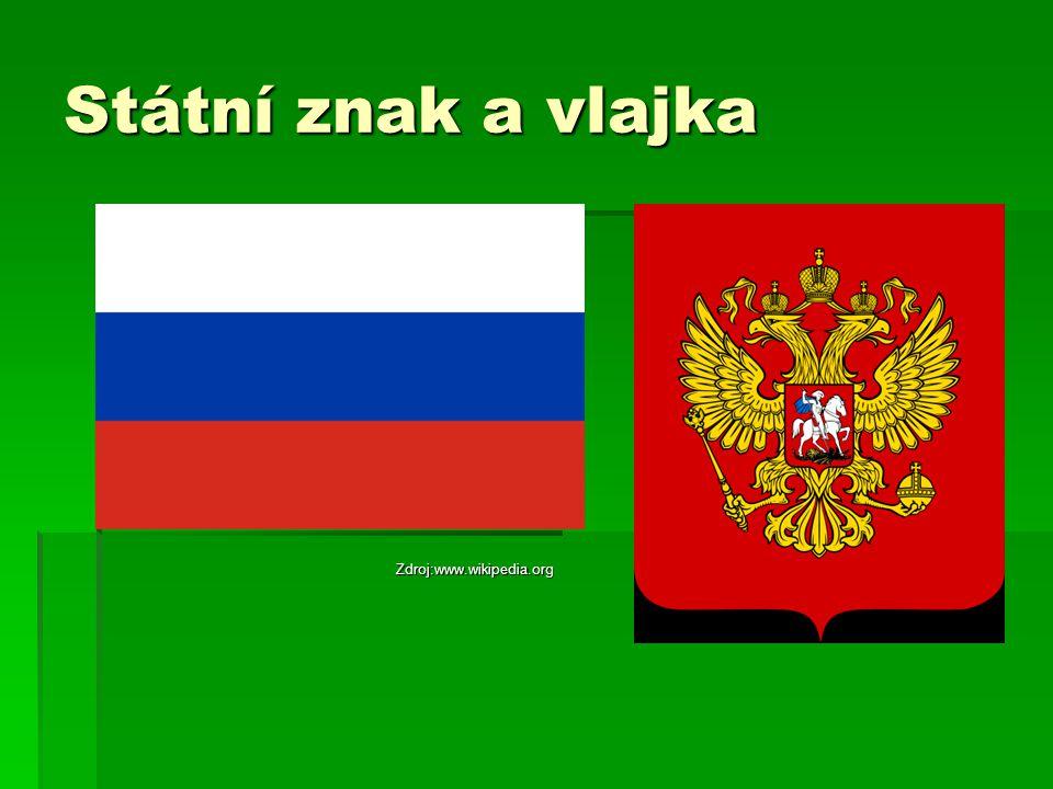 Státní znak a vlajka Zdroj:www.wikipedia.org