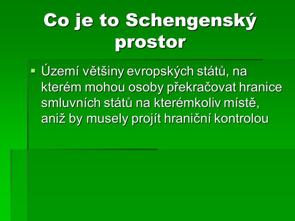 Co je to Schengenský prostor