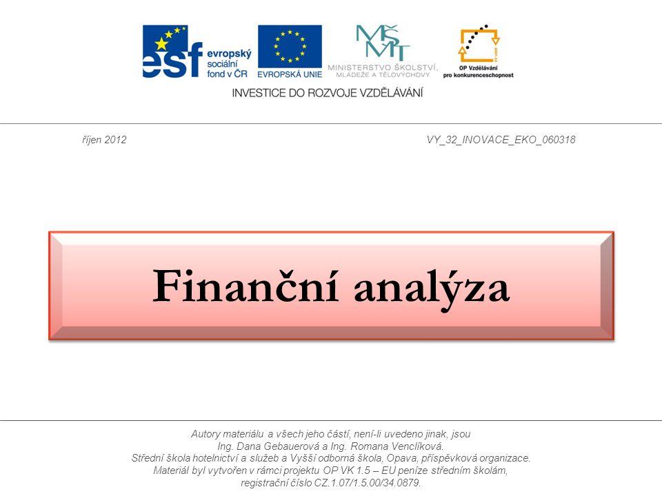 Finanční analýza říjen 2012 VY_32_INOVACE_EKO_060318