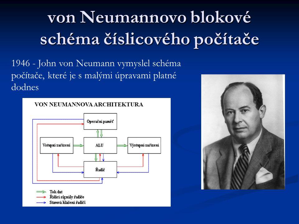 von Neumannovo blokové schéma číslicového počítače