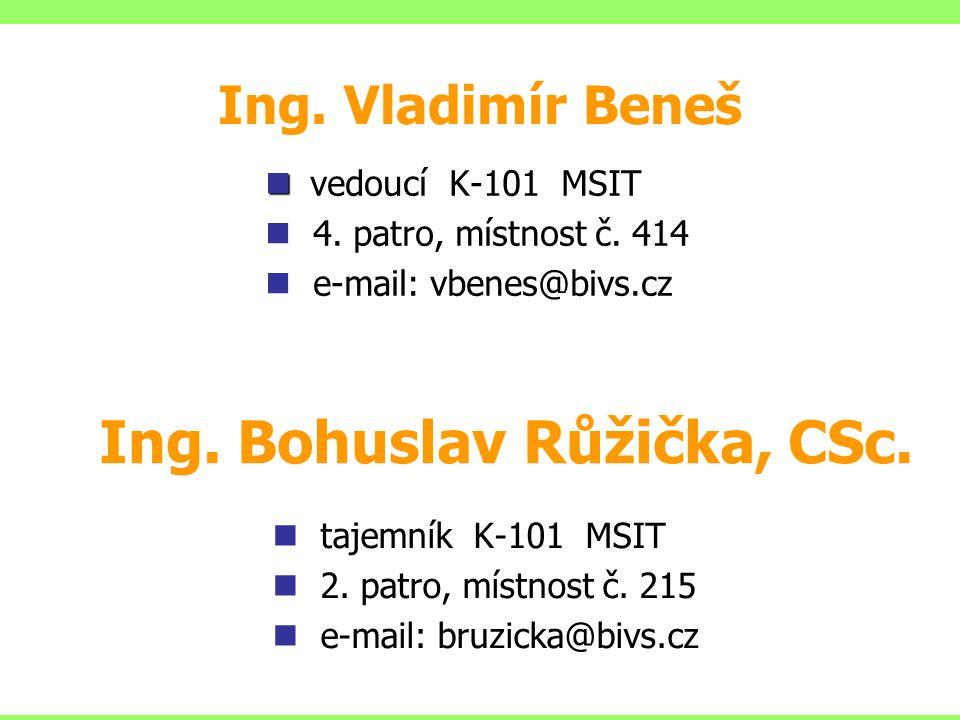 Ing. Bohuslav Růžička, CSc.