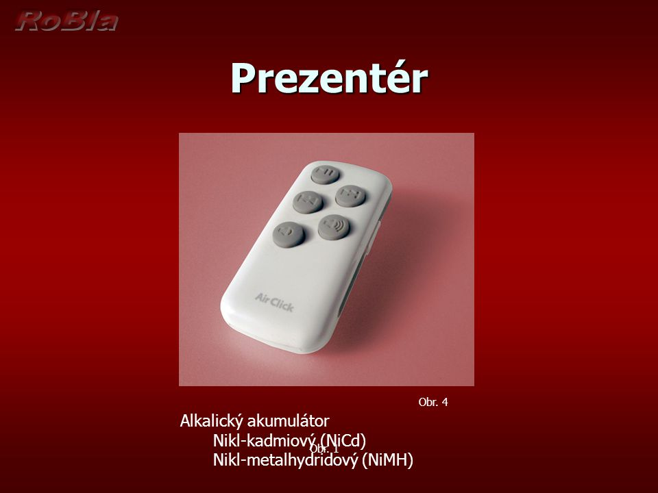 Prezentér Alkalický akumulátor Nikl-kadmiový (NiCd)