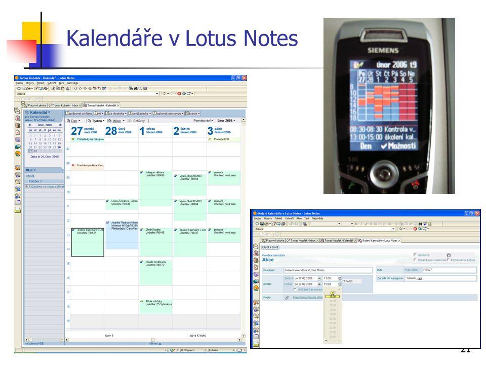 Kalendáře v Lotus Notes