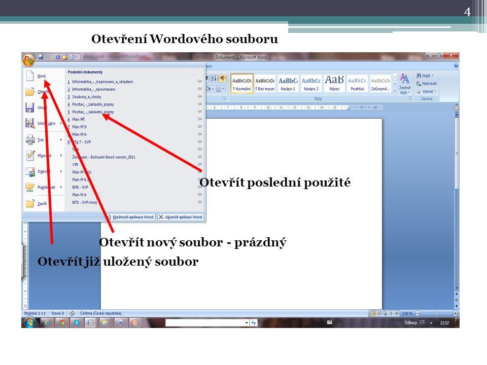 Otevření Wordového souboru