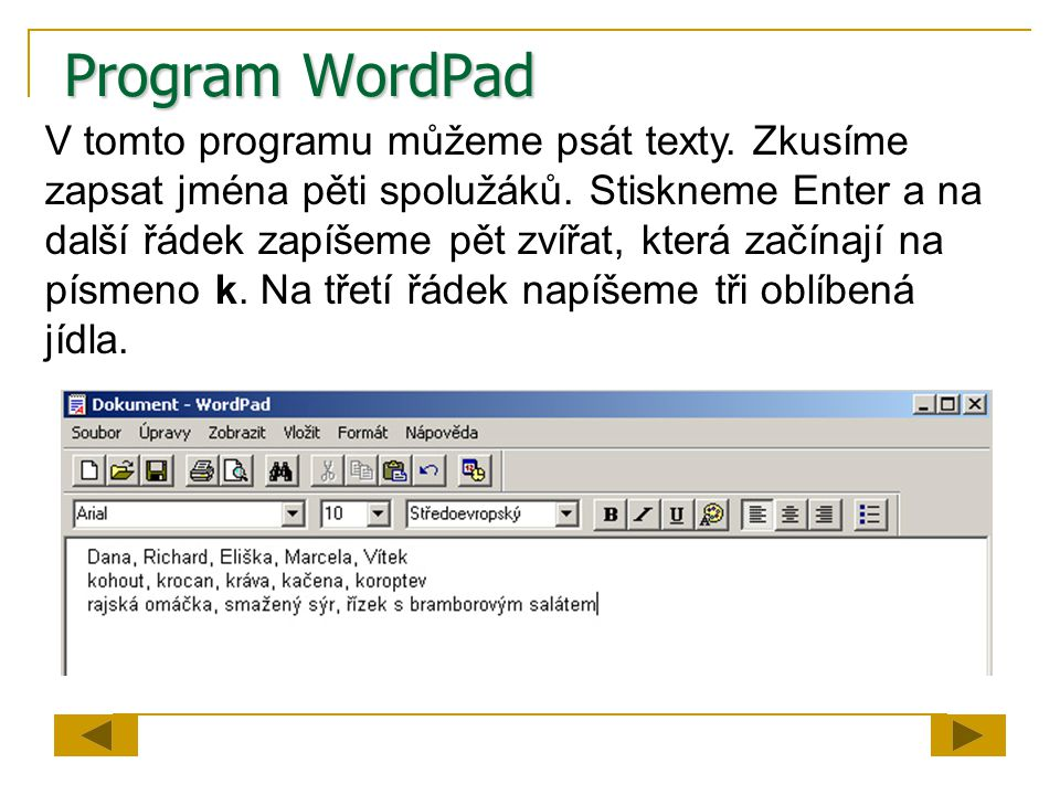 Program WordPad