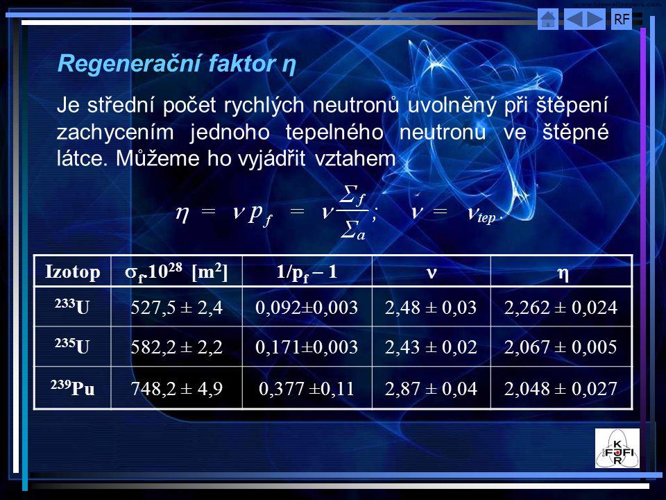 Regenerační faktor η