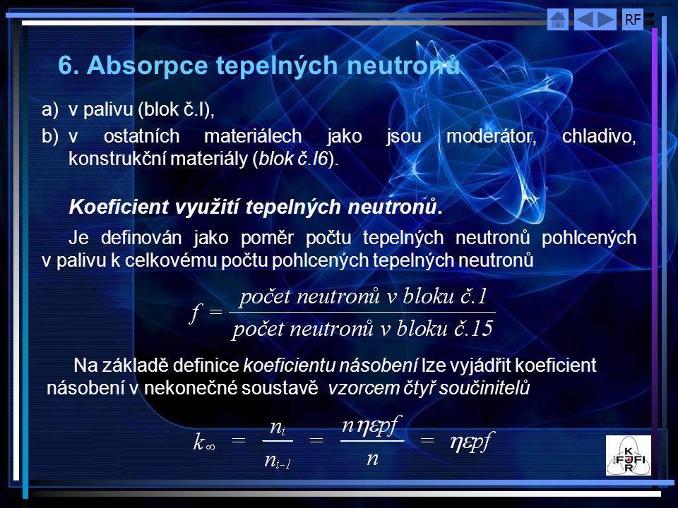 6. Absorpce tepelných neutronů
