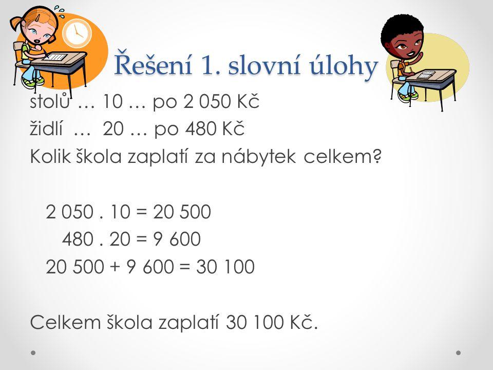 Řešení 1. slovní úlohy