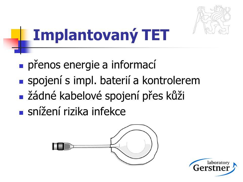 Implantovaný TET přenos energie a informací