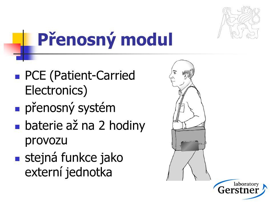 Přenosný modul PCE (Patient-Carried Electronics) přenosný systém