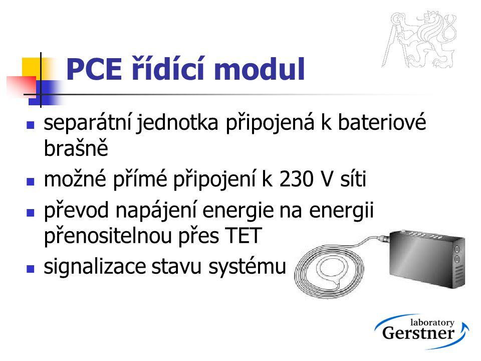 PCE řídící modul separátní jednotka připojená k bateriové brašně