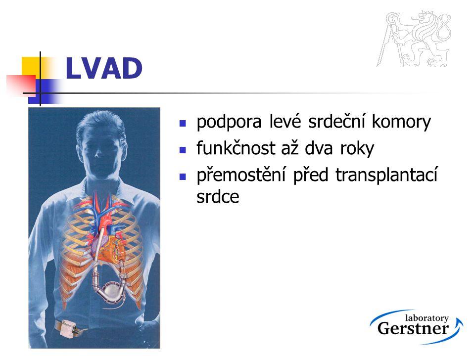 LVAD podpora levé srdeční komory funkčnost až dva roky