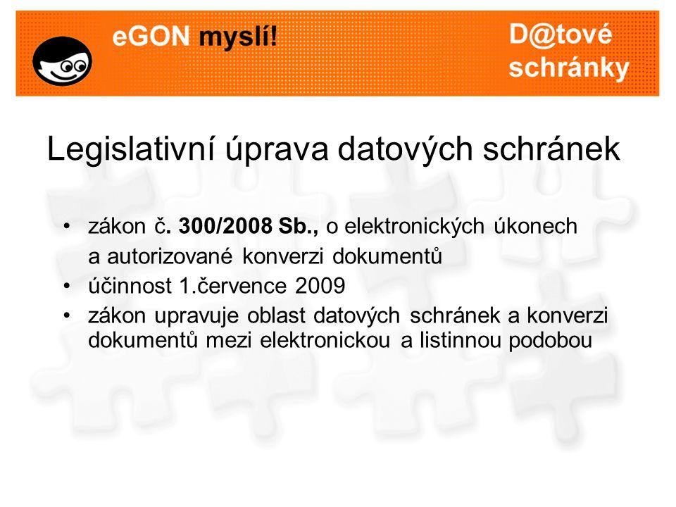 Legislativní úprava datových schránek