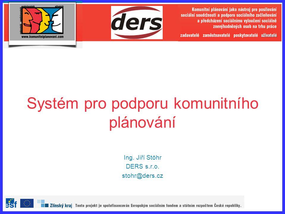 Systém pro podporu komunitního plánování