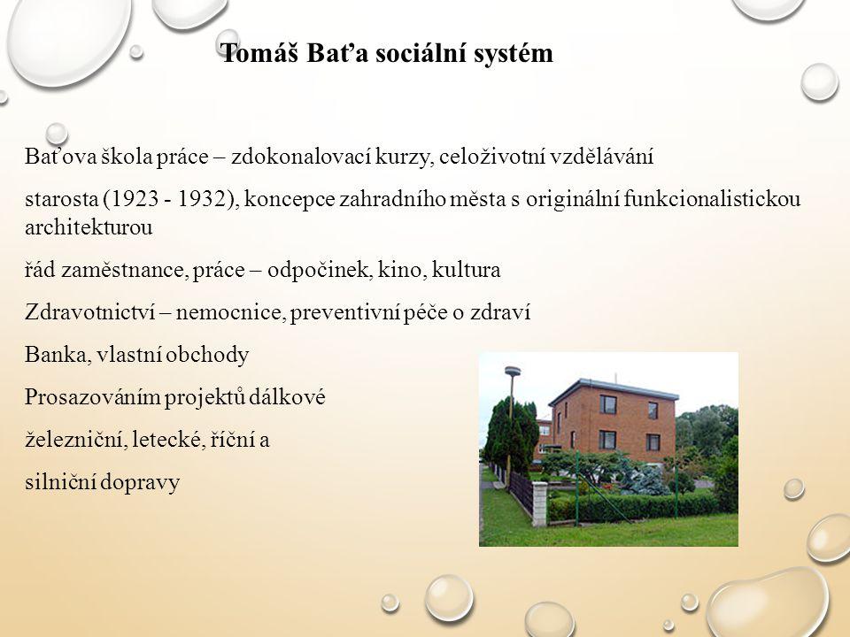 Tomáš Baťa sociální systém
