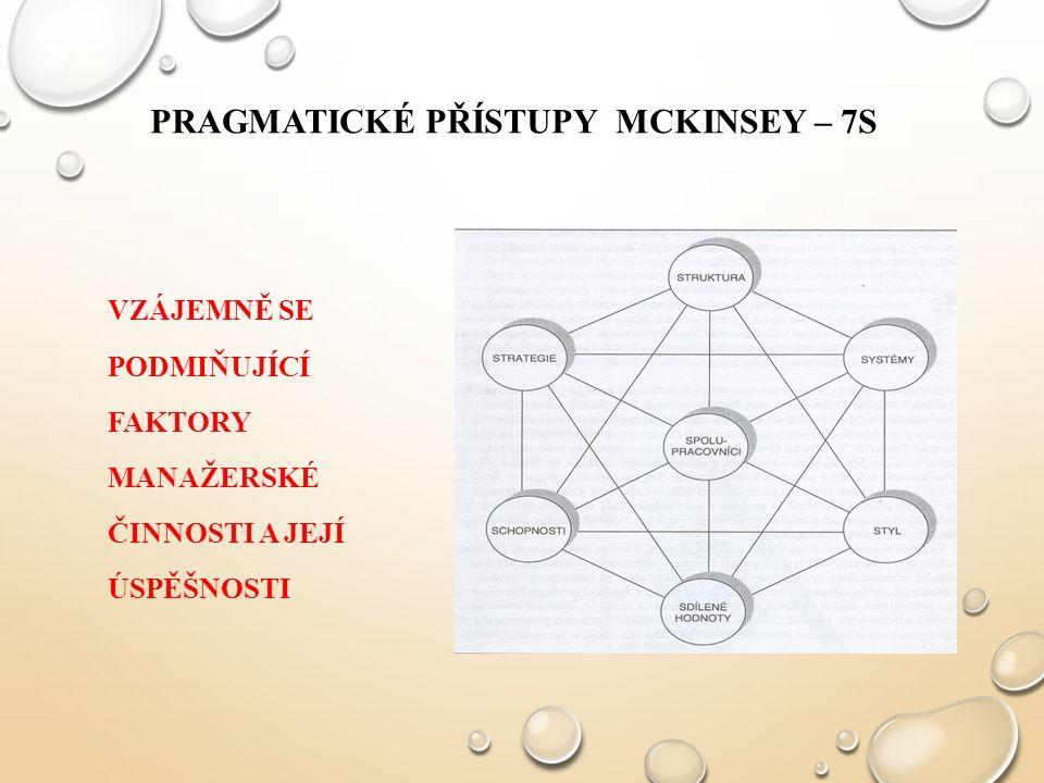 Pragmatické přístupy McKinsey – 7S