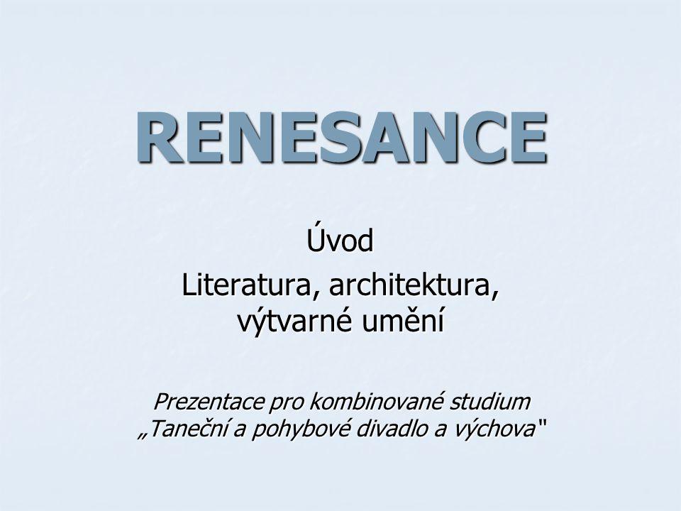 Literatura, architektura, výtvarné umění