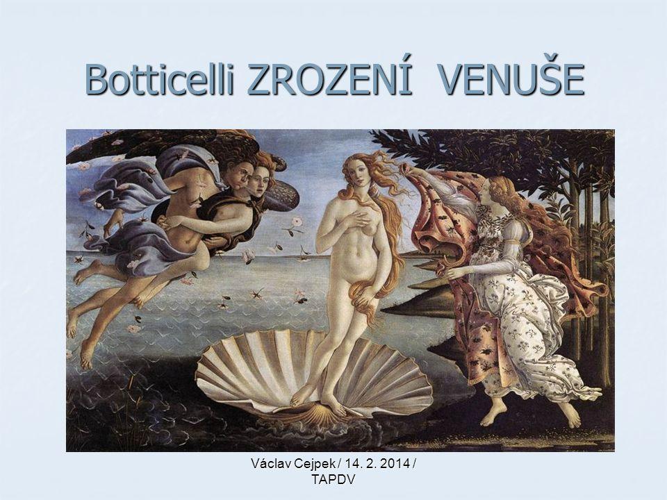 Botticelli ZROZENÍ VENUŠE