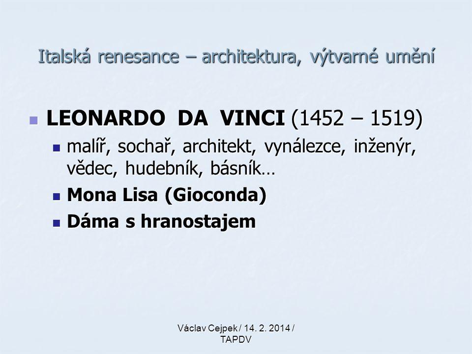 Italská renesance – architektura, výtvarné umění