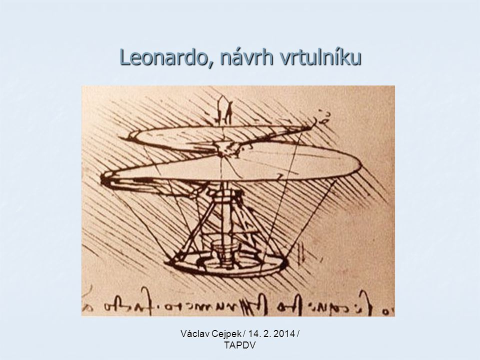 Leonardo, návrh vrtulníku