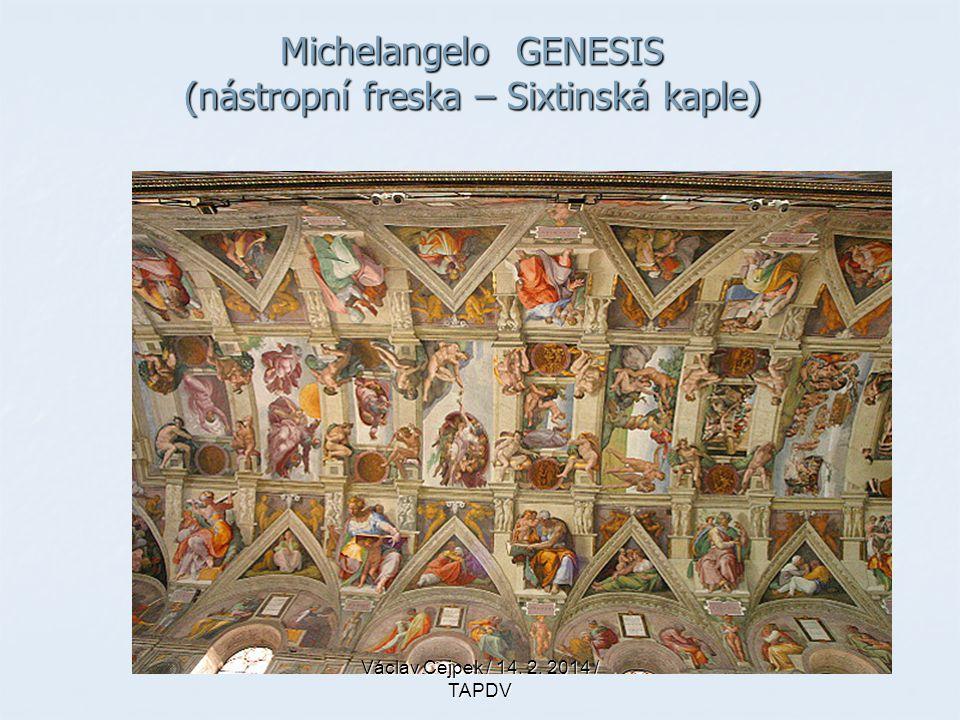 Michelangelo GENESIS (nástropní freska – Sixtinská kaple)