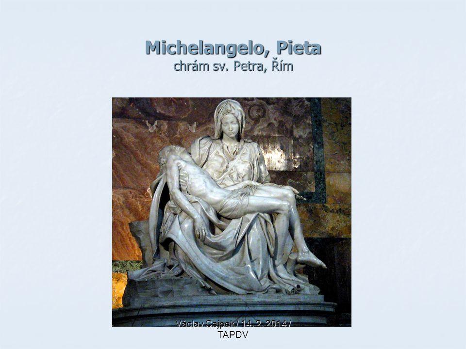 Michelangelo, Pieta chrám sv. Petra, Řím