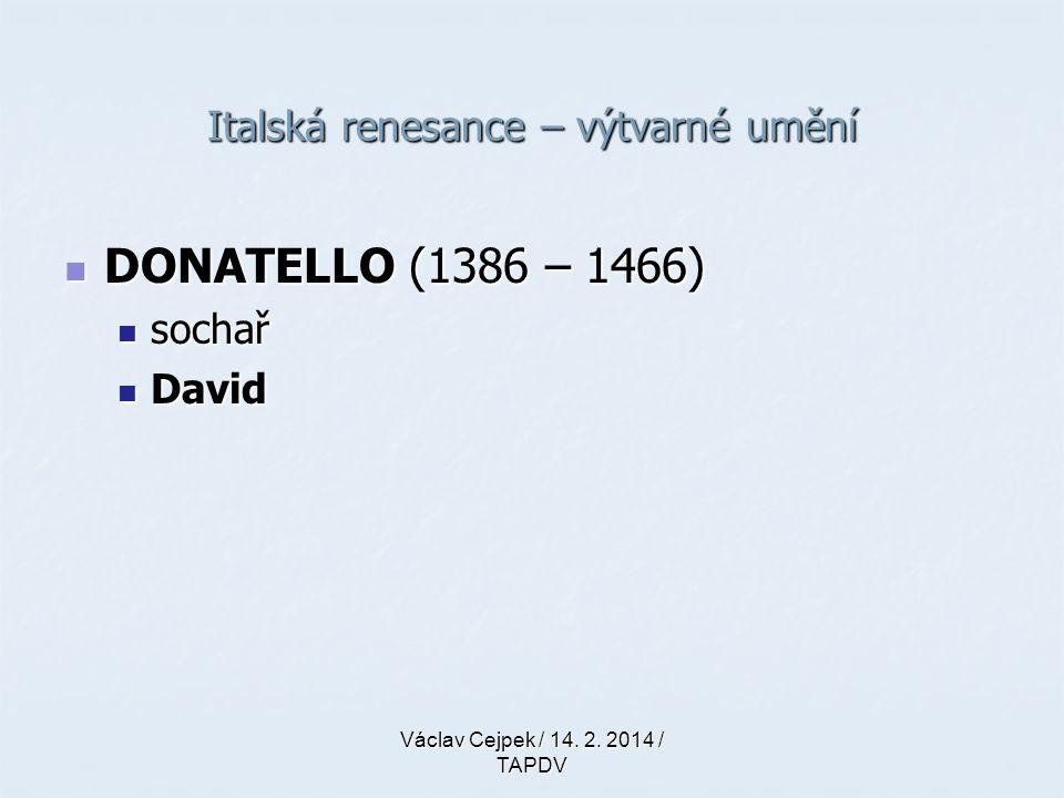 Italská renesance – výtvarné umění