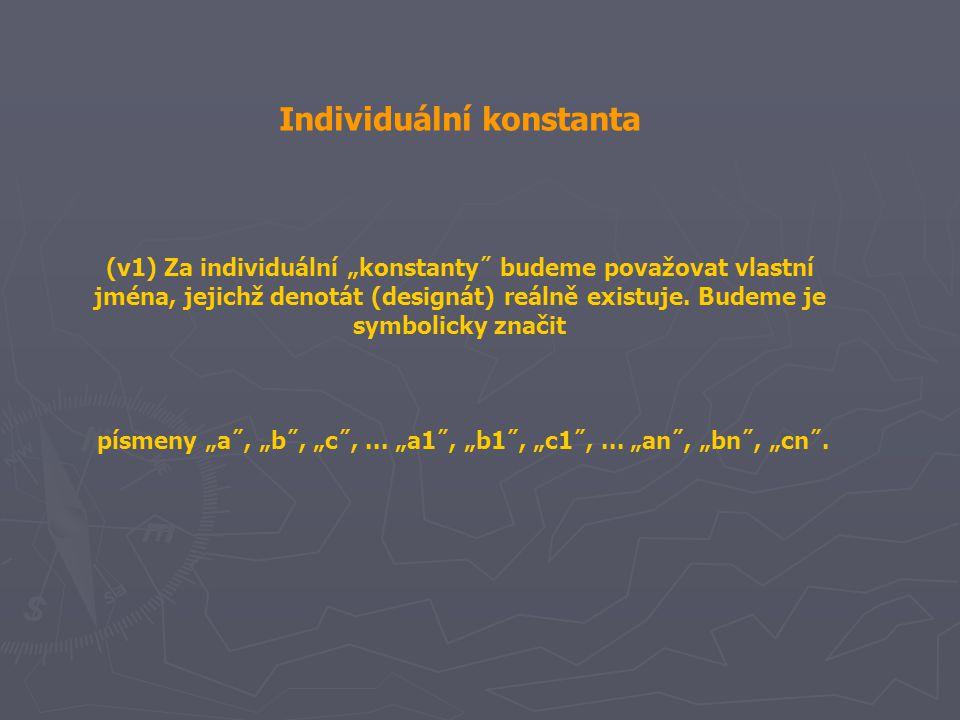Individuální konstanta
