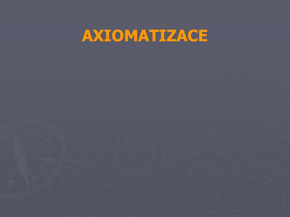 AXIOMATIZACE